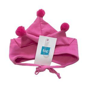 NWT! Pink Jester Baby Cap with Ties